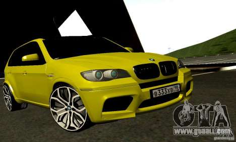 BMW X5M Gold for GTA San Andreas back left view
