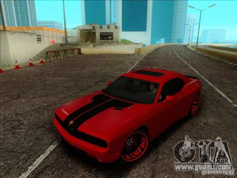 Dodge Quinton Rampage Jackson Challenger SRT8 v1 for GTA San Andreas inner view