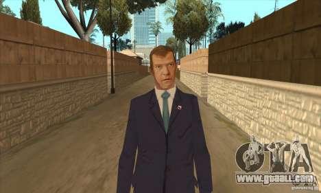 Dmitry Anatolyevich Medvedev for GTA San Andreas