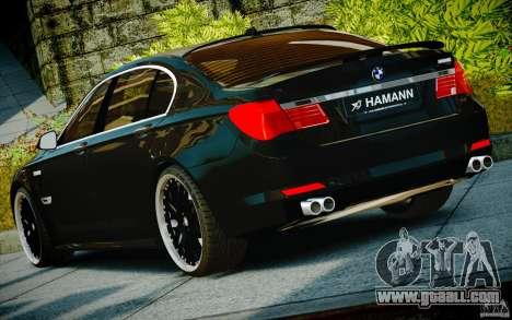 Bmw 750li Hamann for GTA 4 inner view