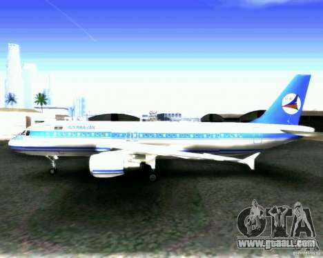 Airbus A-320 Azerbaijan Airlines for GTA San Andreas inner view