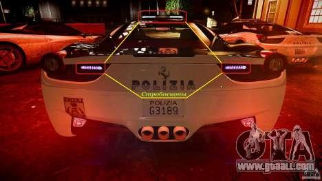 Ferrari 458 Italia - Brazilian Police [ELS] for GTA 4 wheels