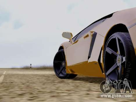 Lamborghini Aventador LP700-4 Vossen for GTA San Andreas right view