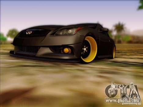 Infiniti G37 HellaFlush for GTA San Andreas left view
