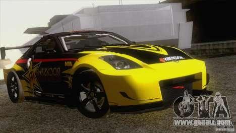 Nissan 350Z Rockstar for GTA San Andreas back view