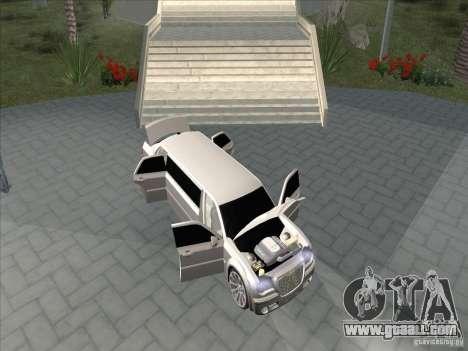 Chrysler 300C Limo for GTA San Andreas inner view
