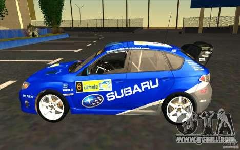 New vinyls to Subaru Impreza WRX STi for GTA San Andreas engine