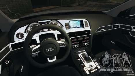Audi RS6 2010 v1.1 for GTA 4 back view