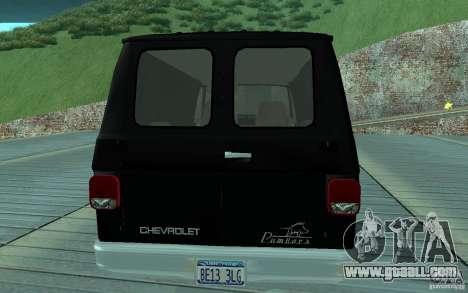 Chevrolet Van G20 1986 v2.0 for GTA San Andreas right view