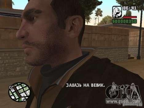 Niko Bellic for GTA San Andreas fifth screenshot