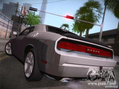 Dodge Challenger SRT8 v1.0 for GTA San Andreas back left view
