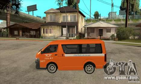 Toyota Hiace for GTA San Andreas right view