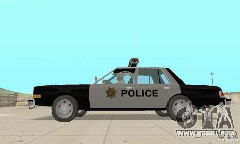 Dodge Diplomat 1985 Police for GTA San Andreas right view