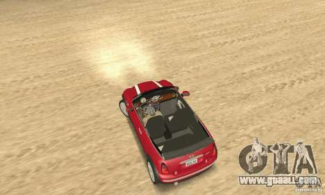 Mini Cooper Convertible for GTA San Andreas back left view