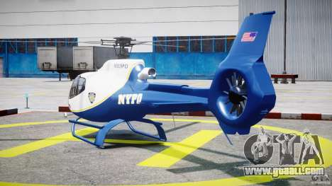 Eurocopter EC 130 NYPD for GTA 4 back left view