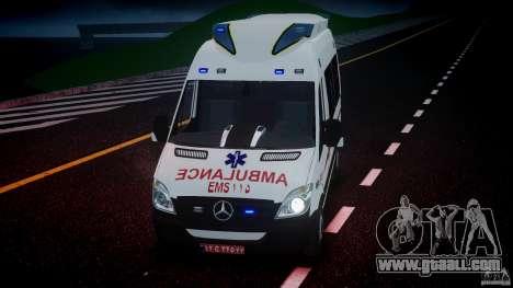 Mercedes-Benz Sprinter Iranian Ambulance [ELS] for GTA 4 upper view