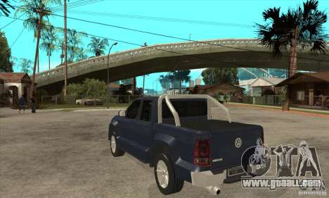 Volkswagen Amarok 2010 for GTA San Andreas back left view