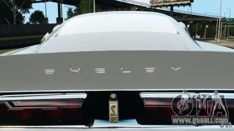 Shelby GT 500 Eleanor for GTA 4 interior