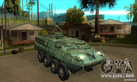 Stryker for GTA San Andreas back view