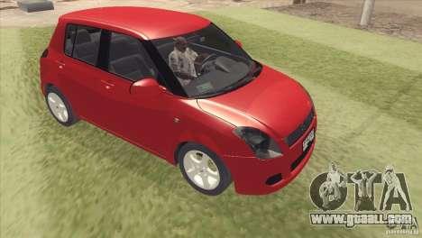 Suzuki Swift versión Chilena for GTA San Andreas back left view