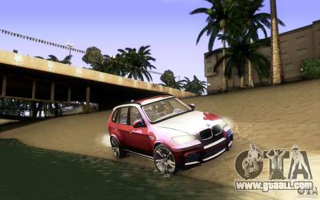 BMW X5M  2011 for GTA San Andreas bottom view