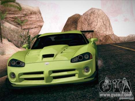 Dodge Viper SRT-10 ACR for GTA San Andreas interior