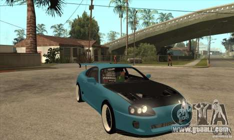 Toyota Supra Tuned for GTA San Andreas back view