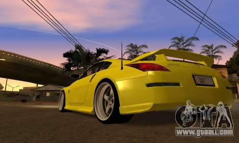 Nissan 350Z for GTA San Andreas back left view