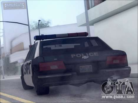 New Police LSPD for GTA San Andreas back left view