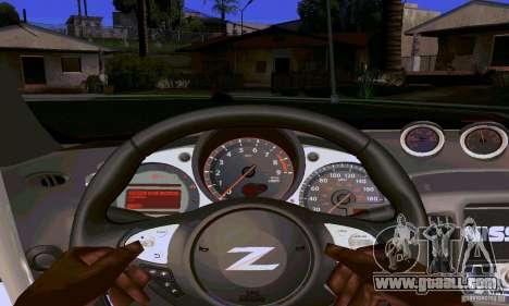 Nissan 370Z for GTA San Andreas interior