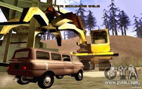 ZAZ 970 for GTA San Andreas bottom view