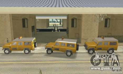 Land Rover Defender 110SW Taxi for GTA San Andreas back left view