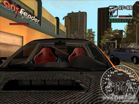 Subaru Impreza WRX Sti 2006 Elemental Attack for GTA San Andreas upper view