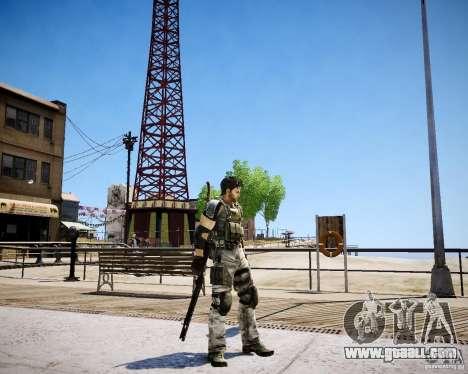 Chris from Resident Evil 5 for GTA 4 forth screenshot