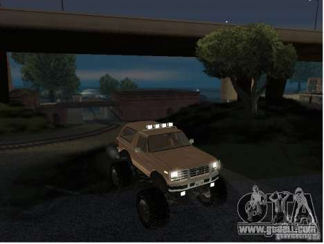 Ford Bronco IV Monster for GTA San Andreas right view
