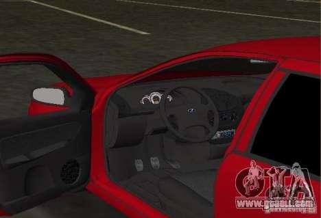 LADA 1119 Kalina for GTA Vice City inner view