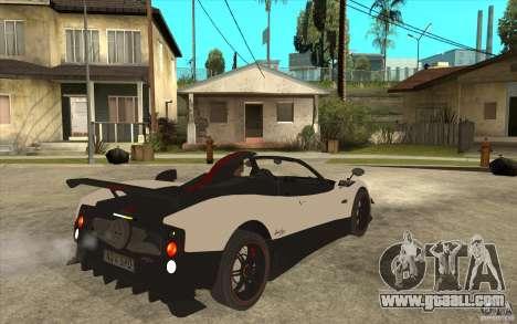 Pagani Zonda Cinque Roadster for GTA San Andreas right view