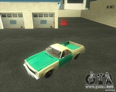 1973 Chevrolet El Camino (old) for GTA San Andreas