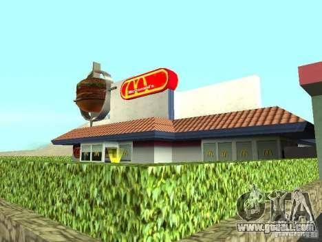 Mc Donalds for GTA San Andreas sixth screenshot