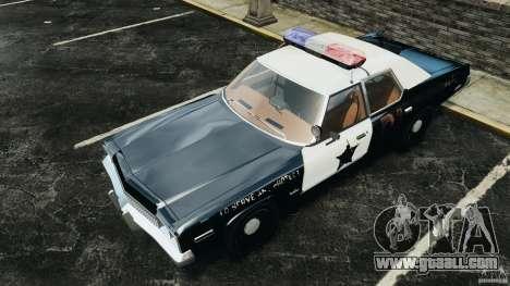 Dodge Monaco 1974 Police v1.0 [ELS] for GTA 4 interior