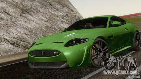 Jaguar XKR-S 2011 V1.0 for GTA San Andreas back left view