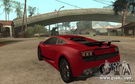 Lamborghini Gallardo LP 570 4 Superleggera for GTA San Andreas back left view