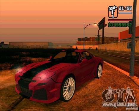 Mazda RX-7 MW for GTA San Andreas