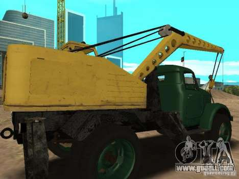 GAZ 51 mobile crane for GTA San Andreas right view