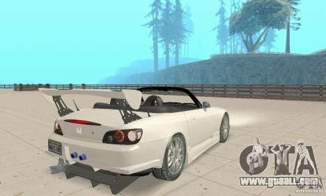 Honda S2000 Cabrio West Tuning for GTA San Andreas left view