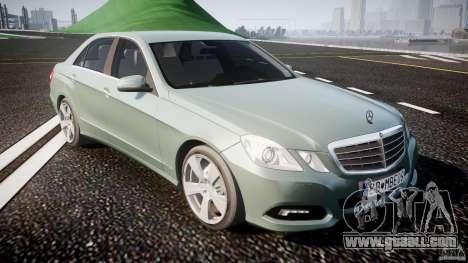 Mercedes-Benz E63 2010 AMG v.1.0 for GTA 4 inner view