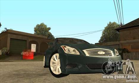 Infiniti G37 Coupe Sport for GTA San Andreas side view