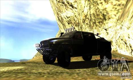 Dodge Ram All Terrain Carryer for GTA San Andreas left view
