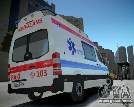 Mercedes-Benz Sprinter Azerbaijan Ambulance v0.2 for GTA 4 left view