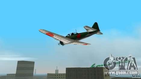 Zero Fighter Plane for GTA Vice City left view